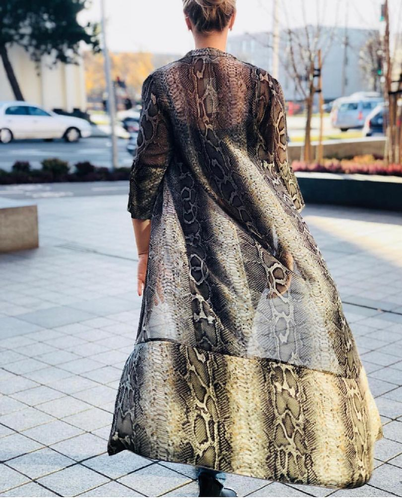 Karmamia Snake Chiffon Kimono