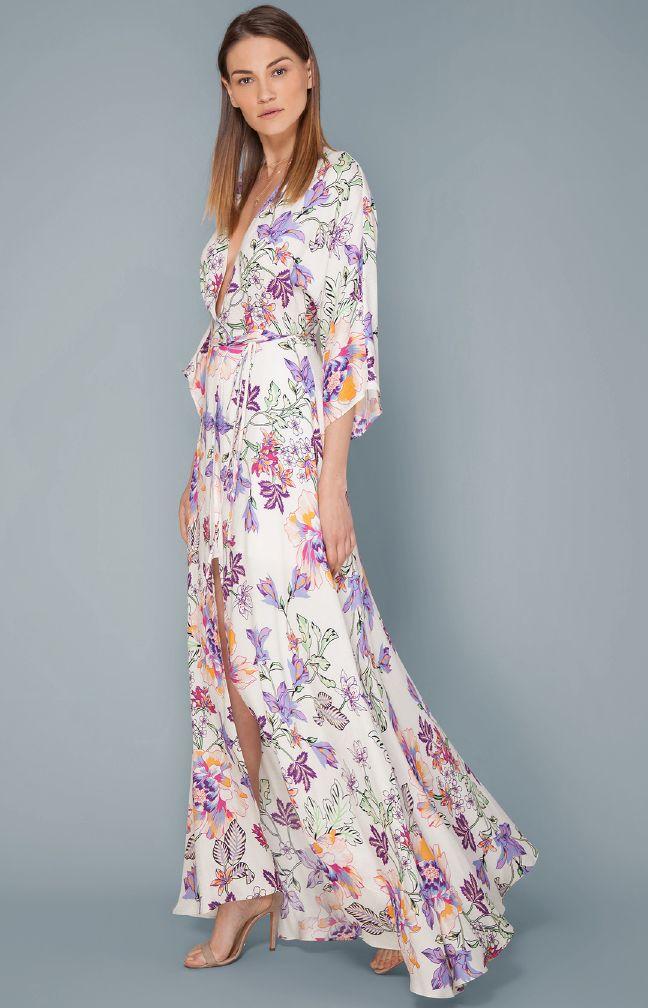 Hale Bob lang kjole m/blomster