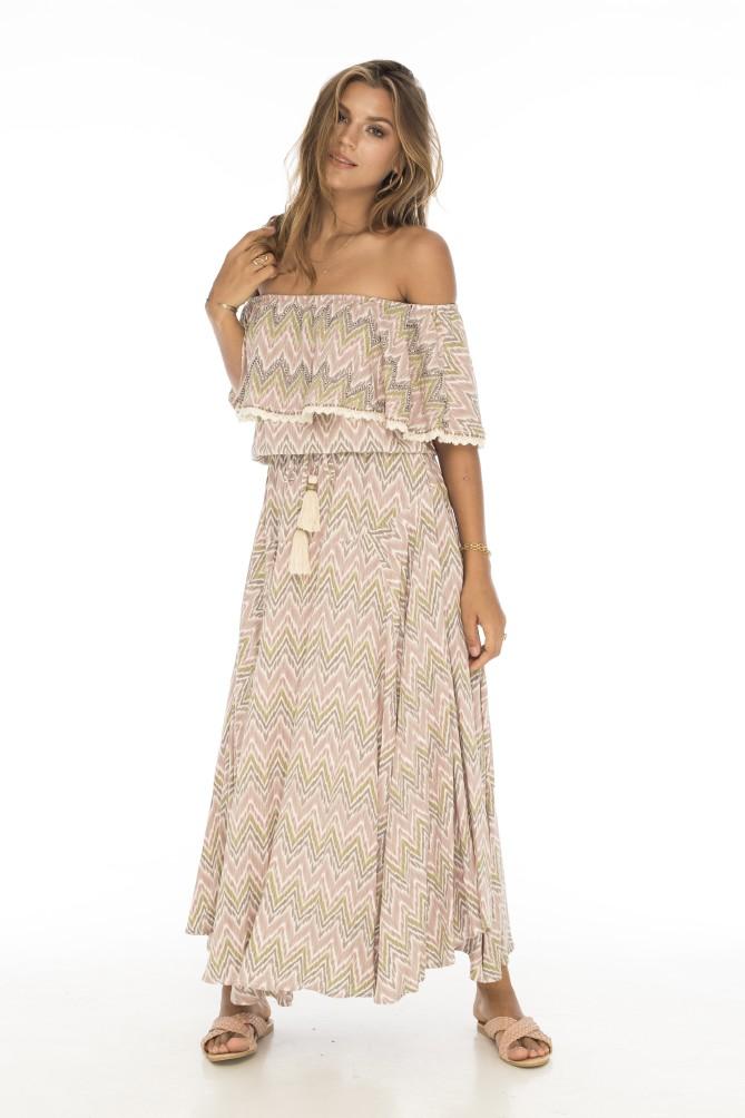 Skemo Delray Lang kjole
