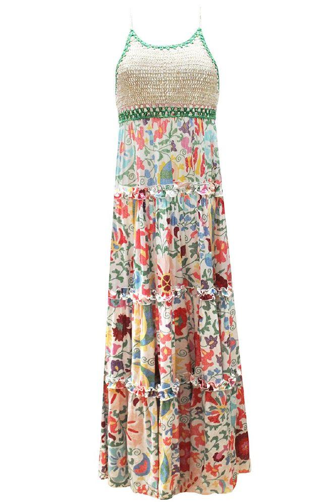 Miss June Naomi lang kjole m hekle topp
