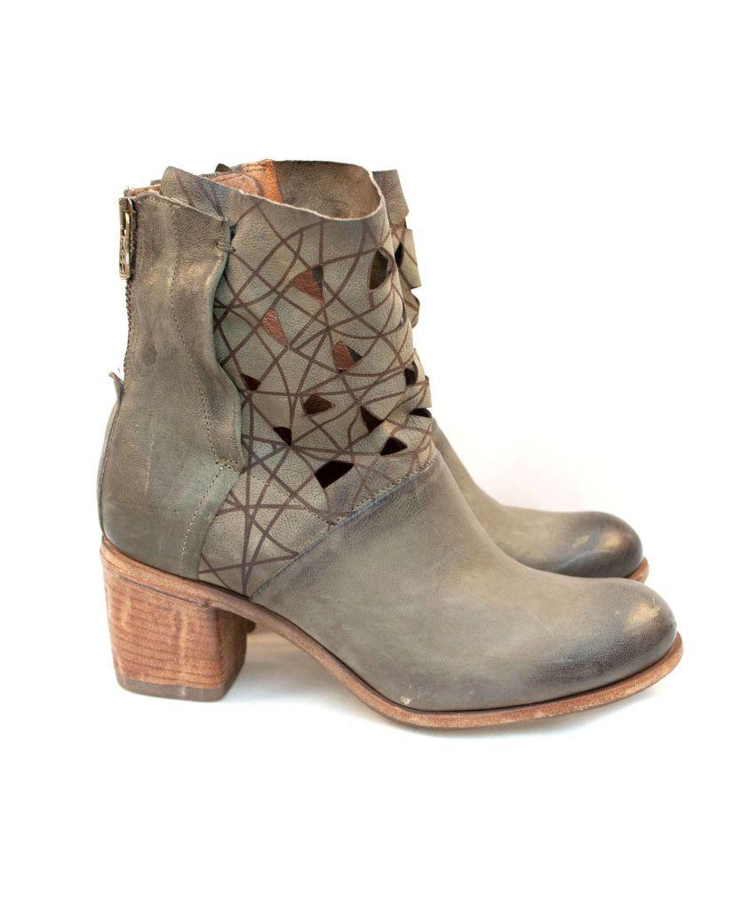 A.S.98 korte støvletter med høy hæl