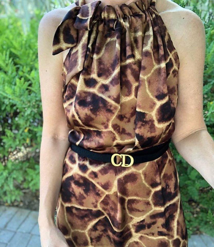 Karmamia Simone Giraffe ruffle kjole