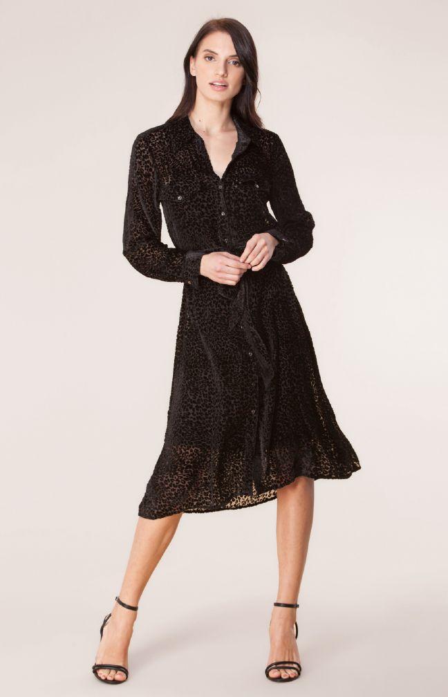 Hale Bob Farica Brent Fløyel kjole