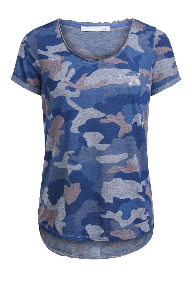 Oui Get The Look Camo T Shirt