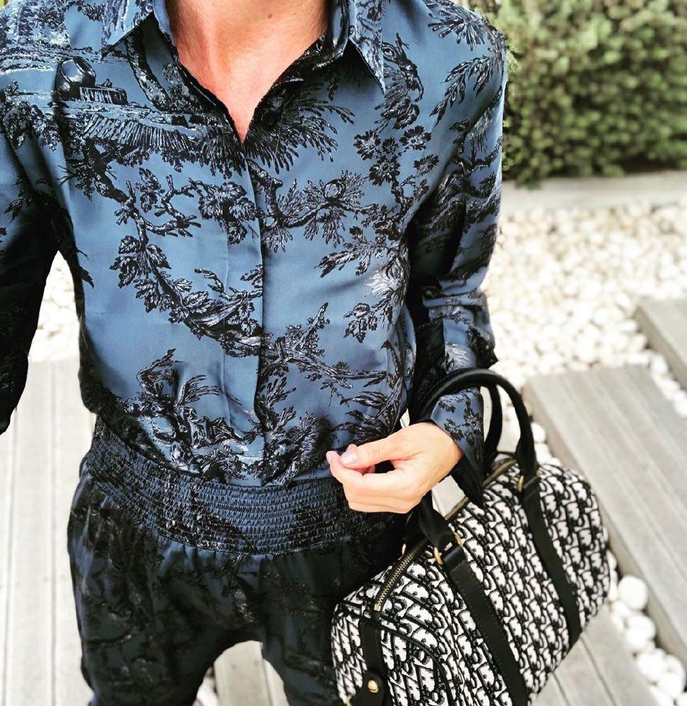 Karmamia Zoe Blue Palma Skjorte