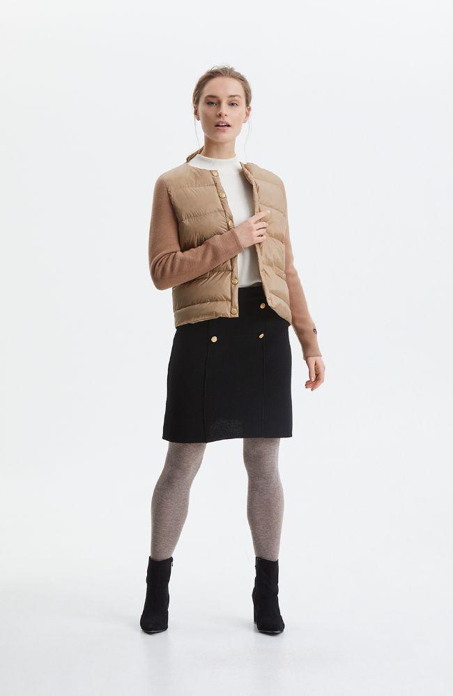 Busnel Iva Dun jakke m strikke ermer