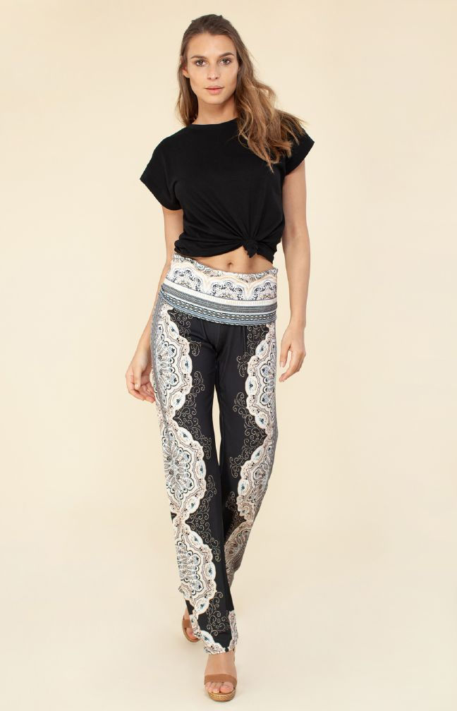 Hale Bob Nina Foldover Jersey Pants