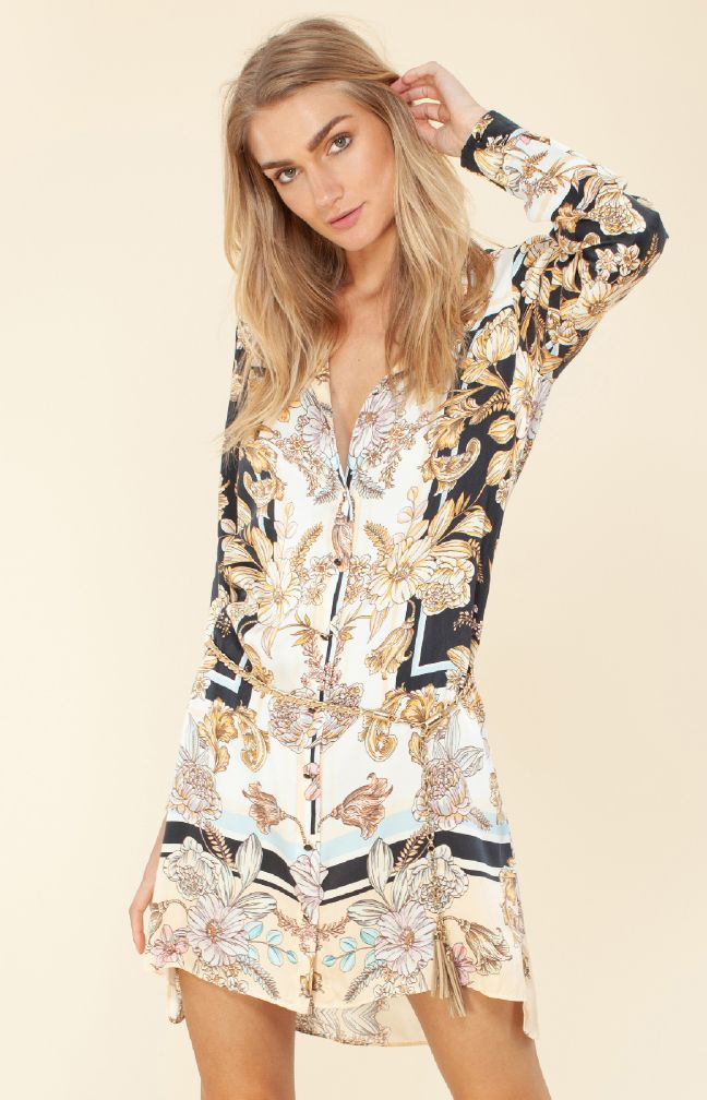Hale Bob Nicola Silk Shirtdress