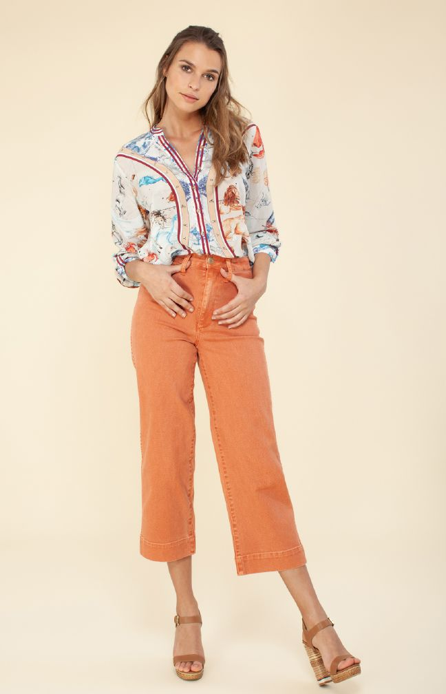 Hale Bob Lourdes Silk Top