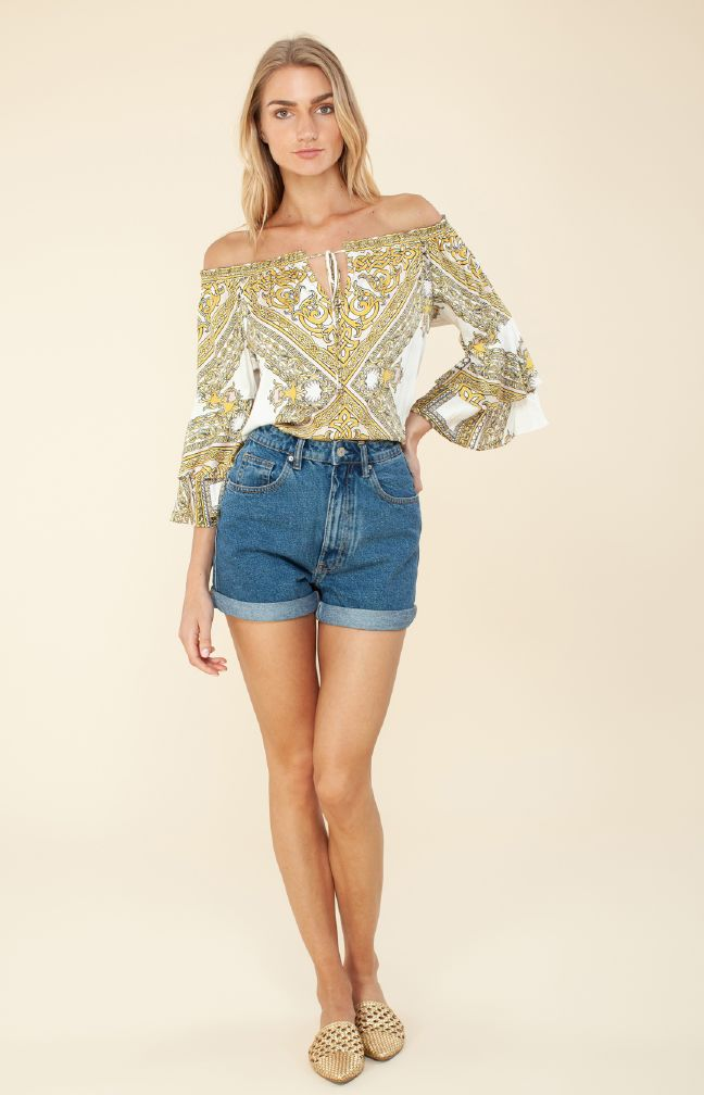 Hale Bob Riley Off the Shoulder Top