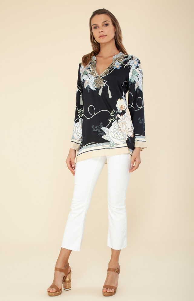 Hale Bob Brielle Blouse With Beading