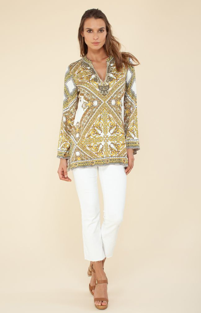 Hale Bob Nadine Blouse With Beading