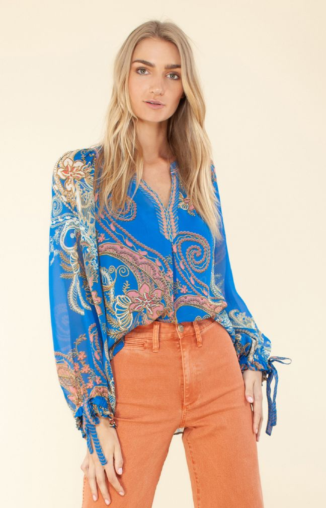 Hale Bob Pauline Silk Georgette Top