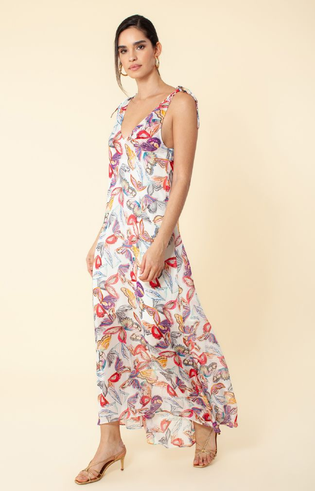 Hale Bob 01LB6824 Butterfly Long Dress