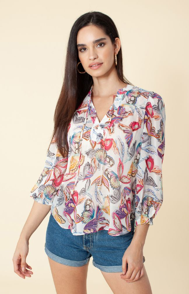 Hale Bob Paola Silk Georgette Top