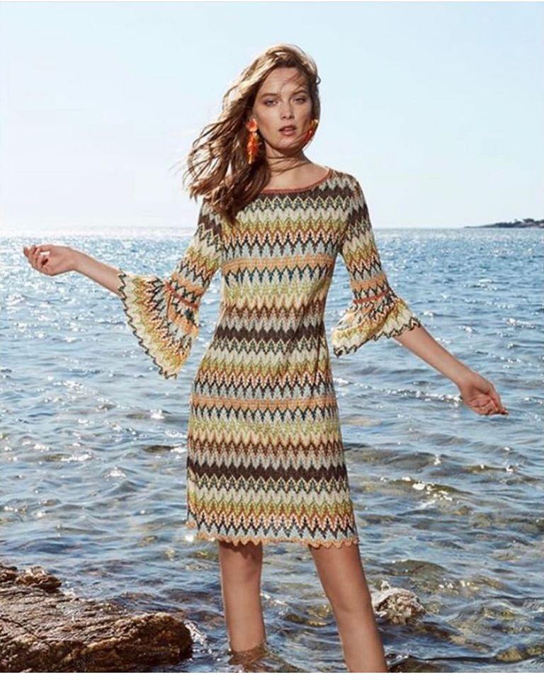 Ana Alcazar Volant Sleeve Dress Zagy