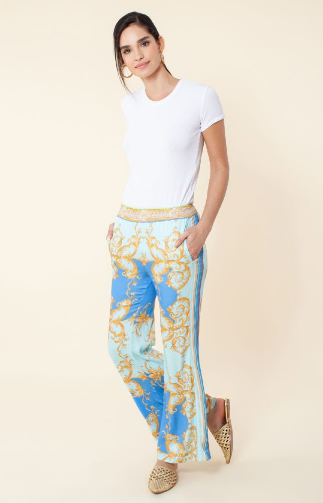 Hale Bob Leonora Stretch Satin Pant