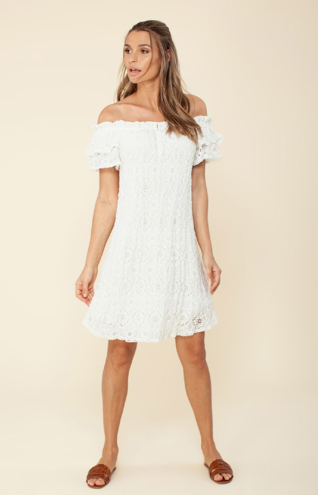 Hale Bob Ximena Off the Shoulder Dress