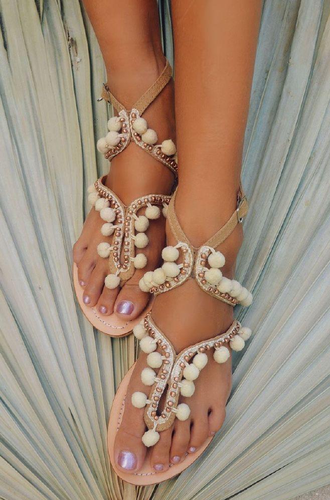 Hot Lava Lulu Pompom Sandal