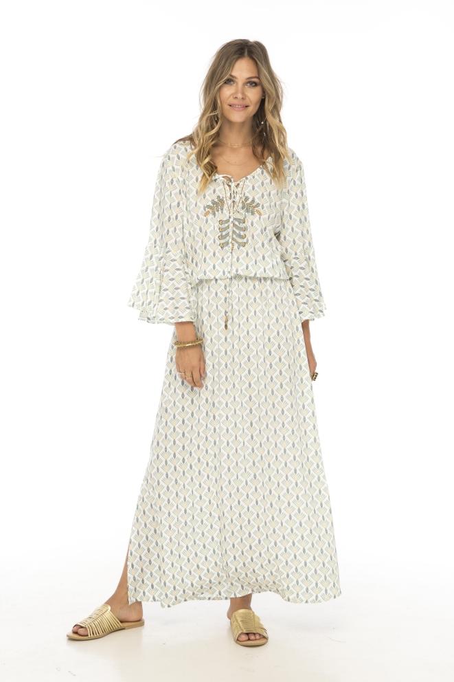 Skemo Peacock Long Dress
