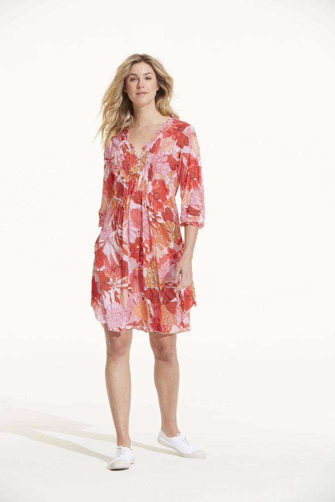 OneSeason Poppy Dress Middy Valencia