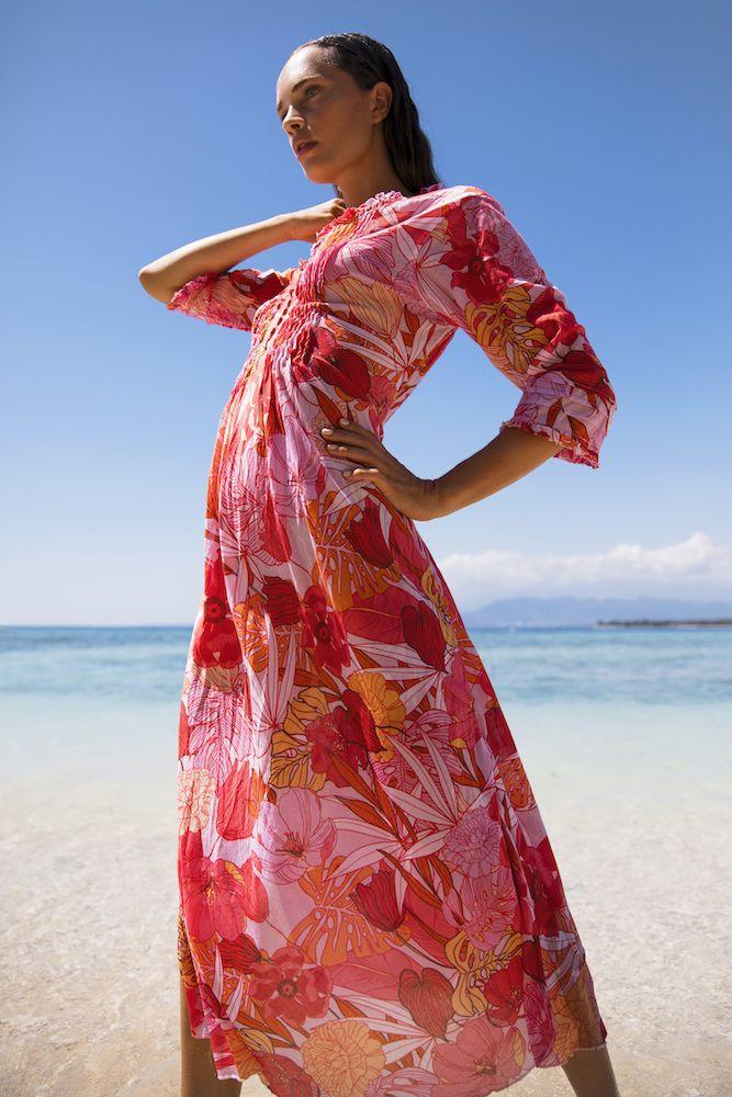 OneSeason Poppy Dress Long Valencia