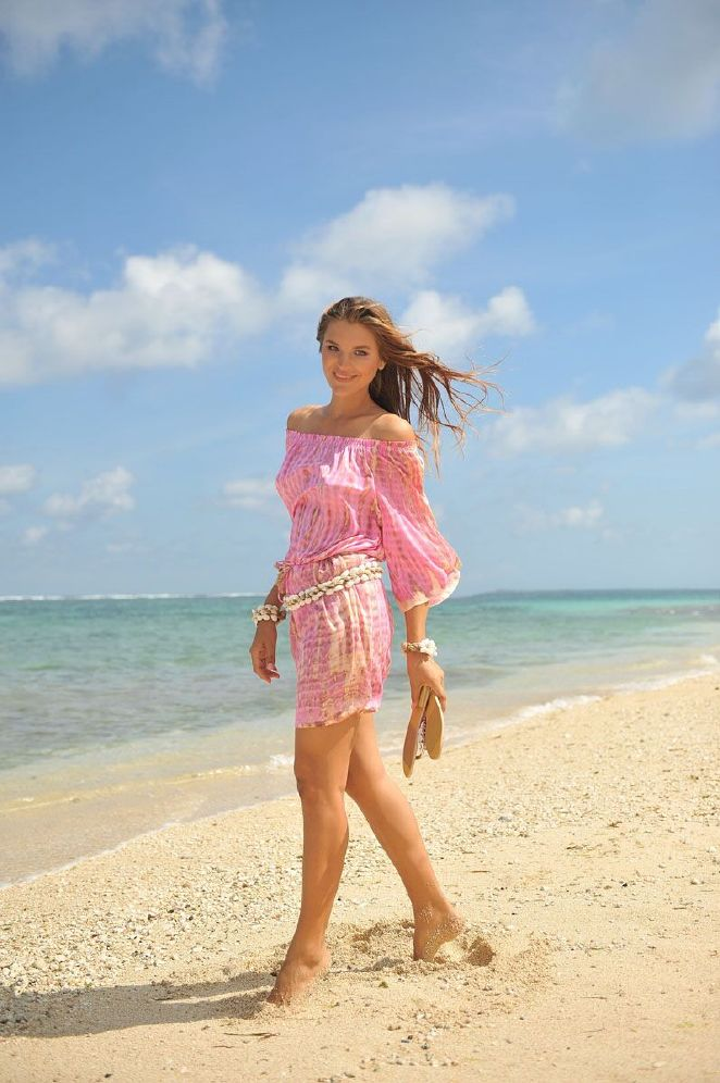 Hot Lava Dress Bibi Moonstone Pink