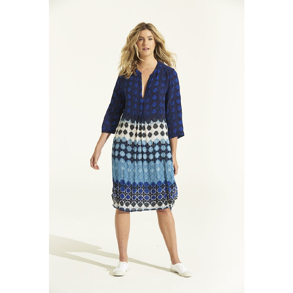 One Season Papy Dress Bermuda Blue