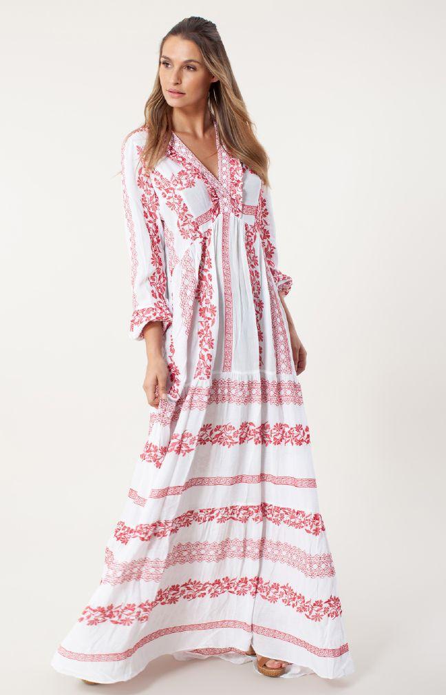 Hale Bob Lang kjole brodert