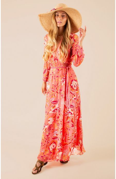 Hale Bob Speranza wrap lang kjole