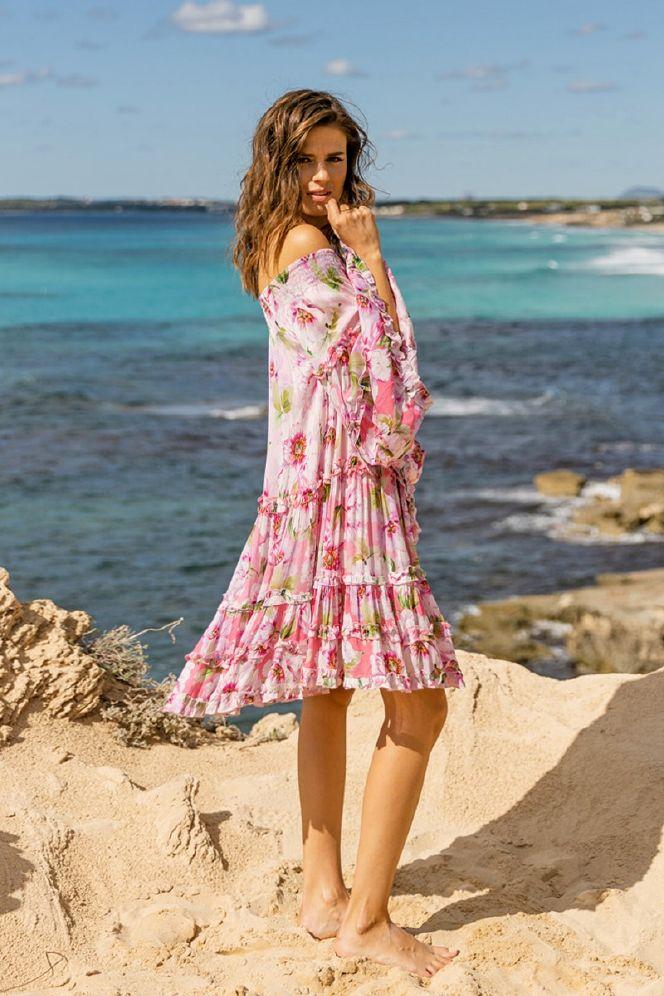 Miss June Fleur off shoulder kjole