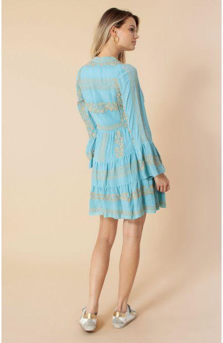 Hale Bob Leith Etnisk kjole m boderier