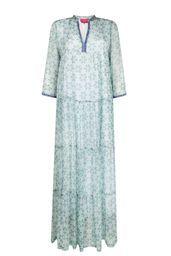 Place Du Soleil lang kjole m blomster