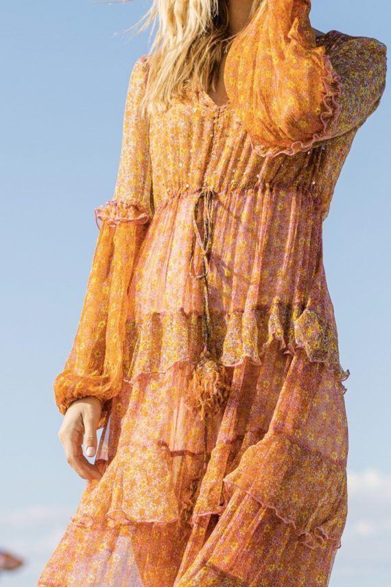 Miss June Jojoba Lang kjole