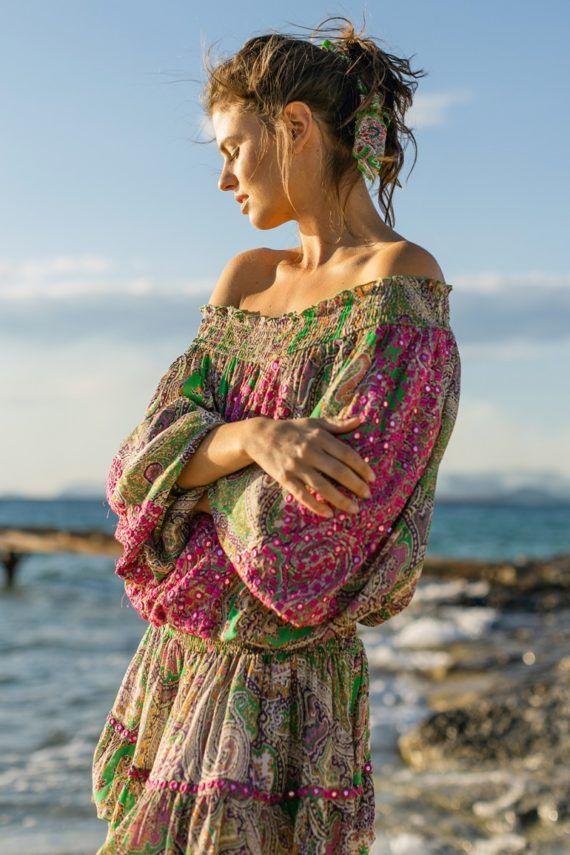 Miss June Harem Off Shoulder kjole