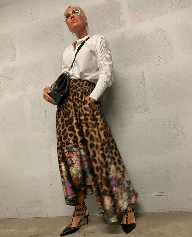 Karmamia Cassie Flower Leopard skjørt