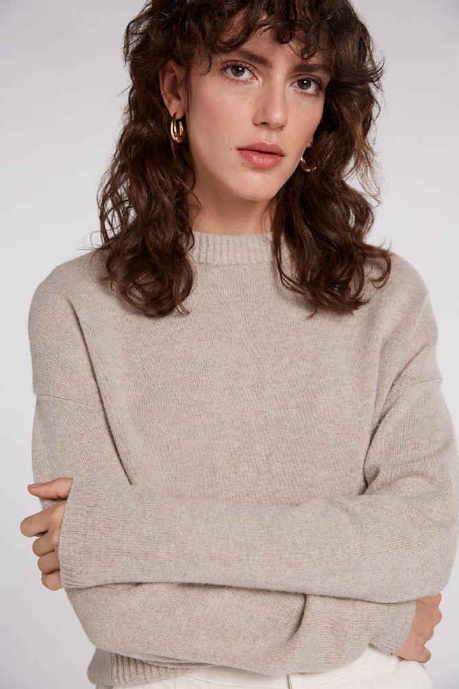 Oui Fashion Strikket genser m lommer