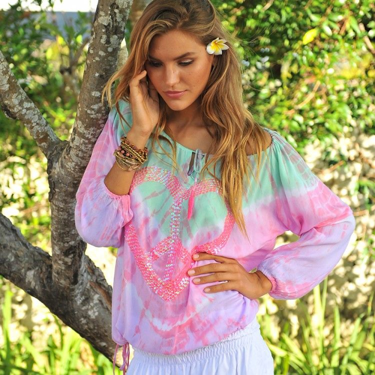 Hot Lava Peace Bluse
