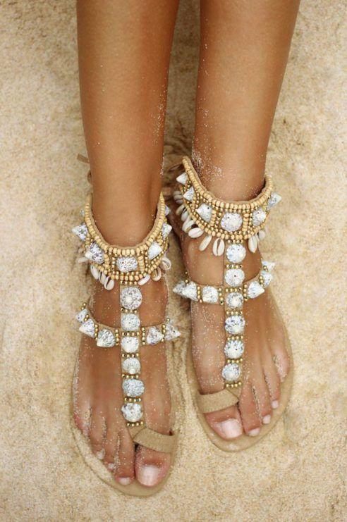 Hot Lava Tribal sandaler m skjell
