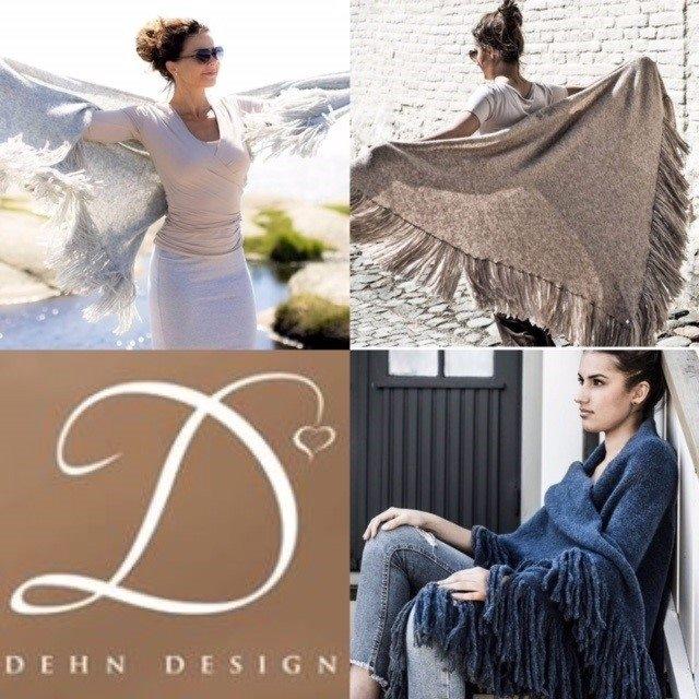 Dehn Design Daisy Sjal m frynser
