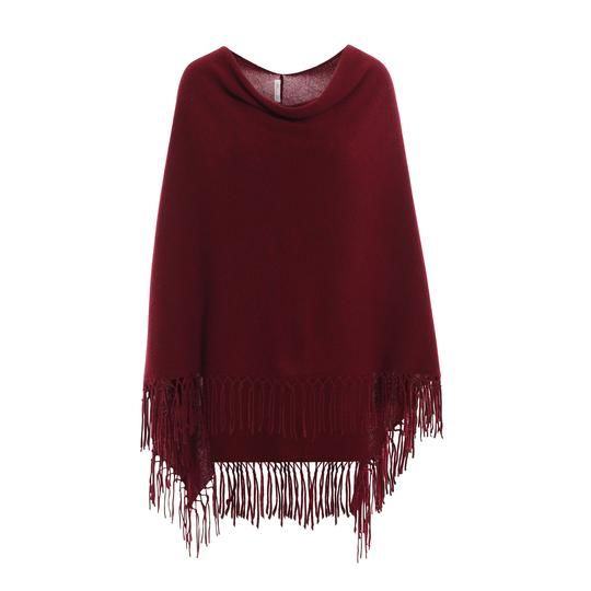 Minnie Rose Ruana Frynse Poncho