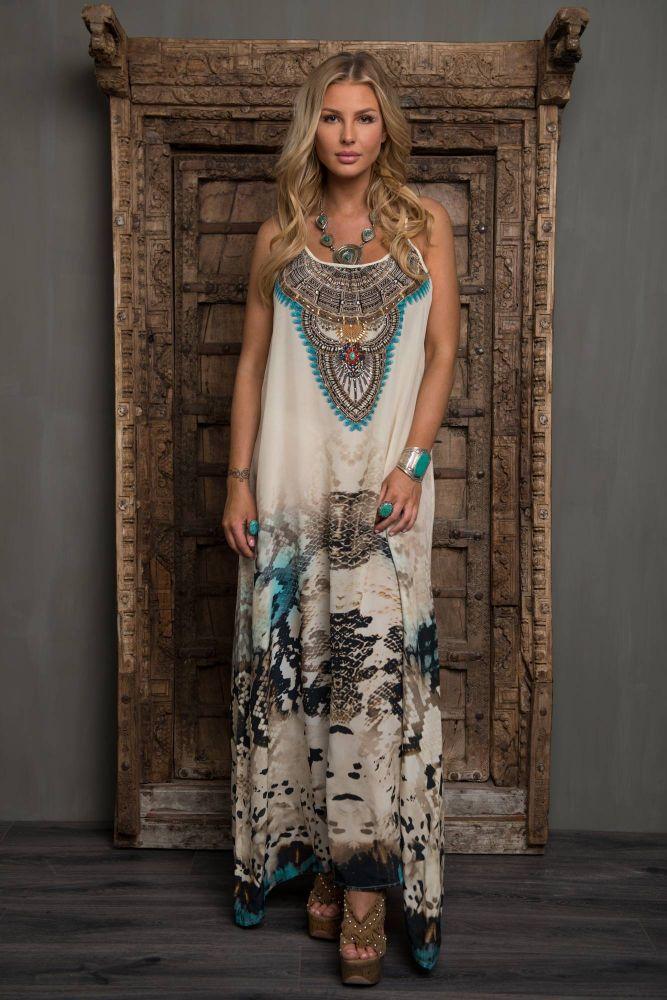 Jsquad Marocco lang Silke Kjole