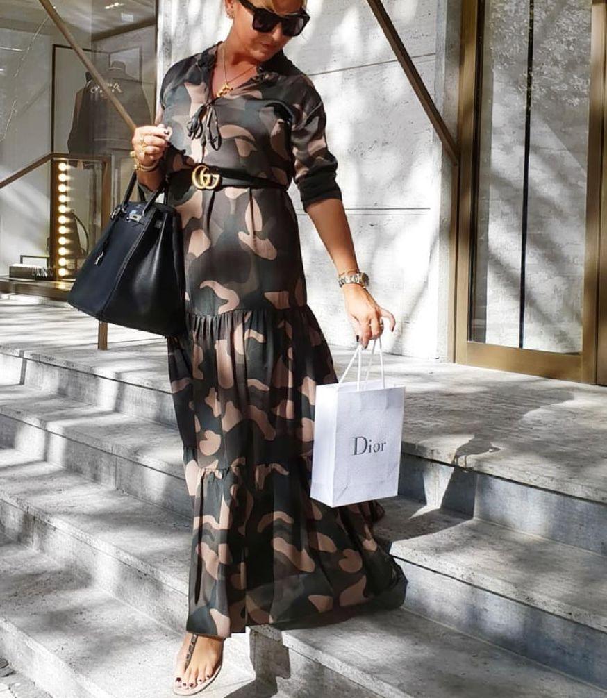 Karmamia Phoebe Dress - Camouflage